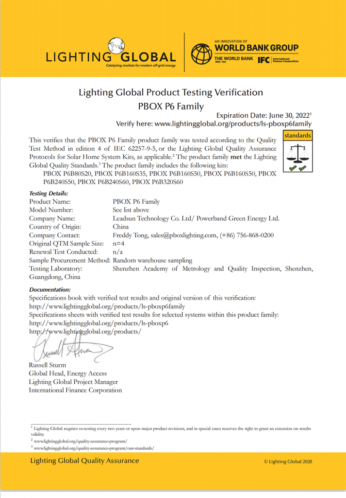solar home system with lighting global