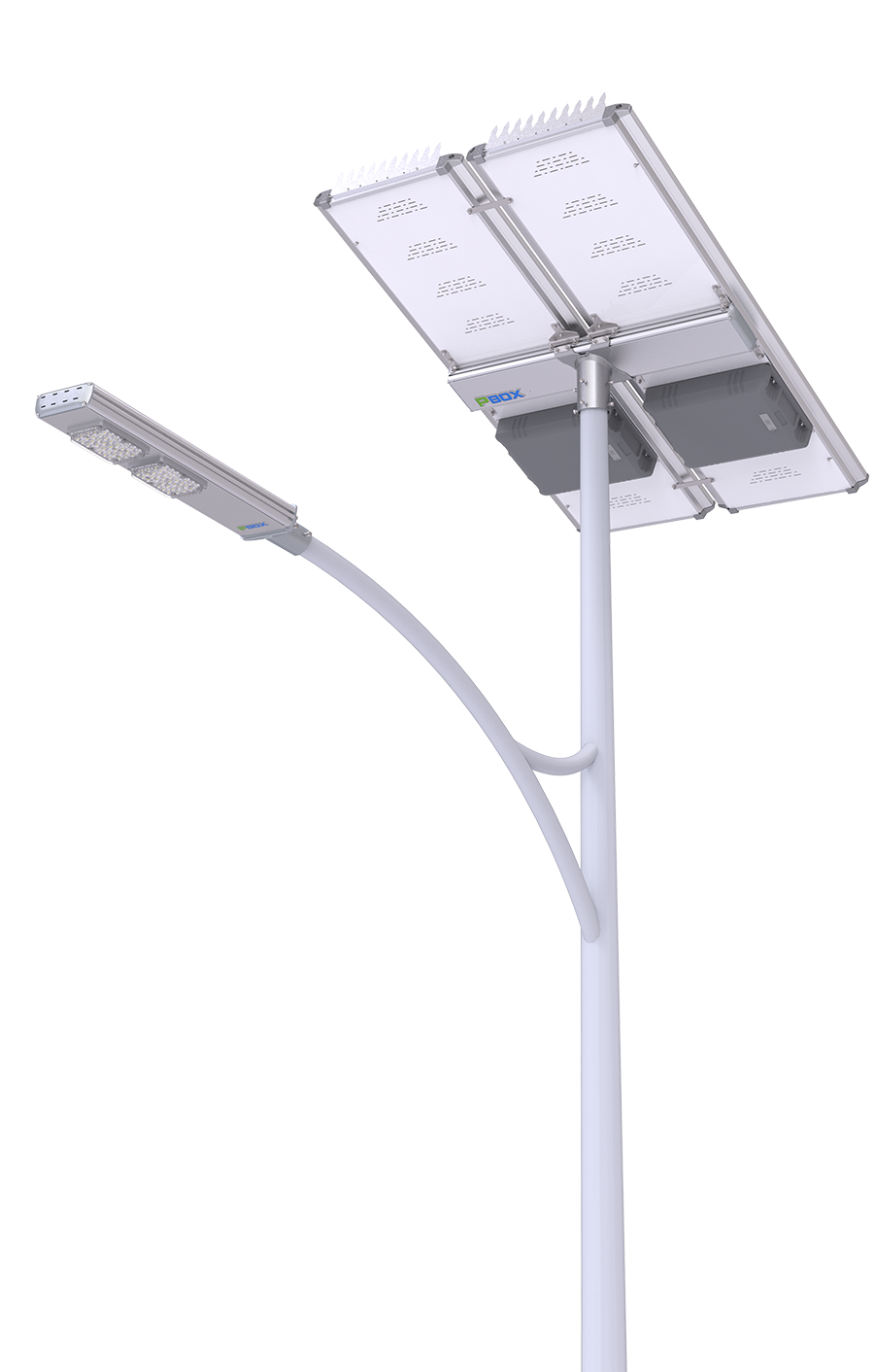 Split solar led street light