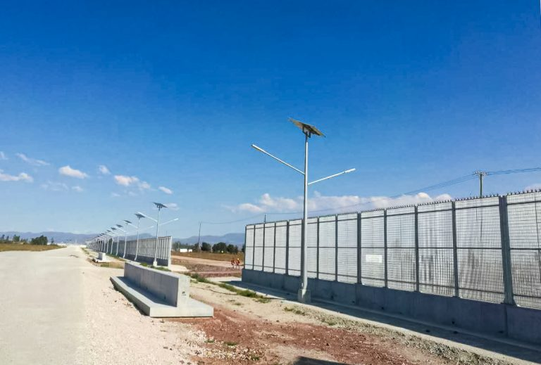 All in one solar street lighting project