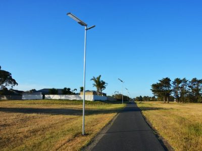 Road project solar led street light